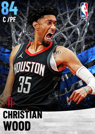 Christian Wood sapphire card