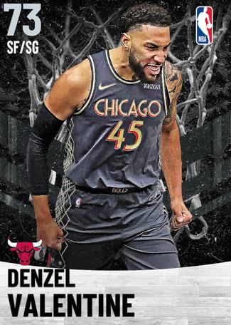 Denzel Valentine silver card