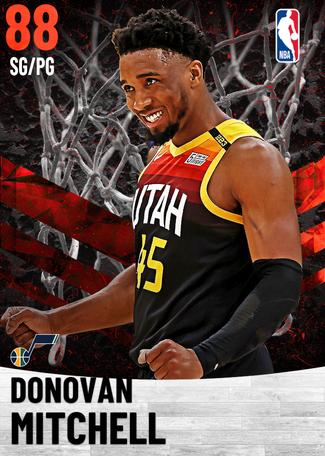 Donovan Mitchell ruby card