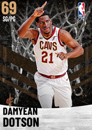 Damyean Dotson bronze card
