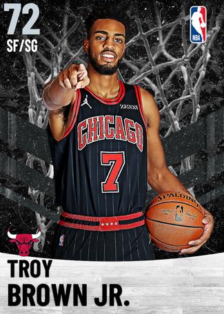 Troy Brown Jr. silver card