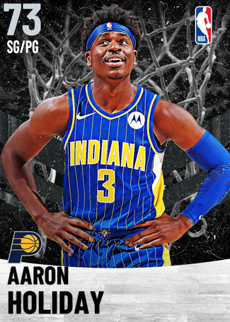Aaron Holiday silver card