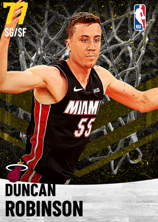 Duncan Robinson gold card