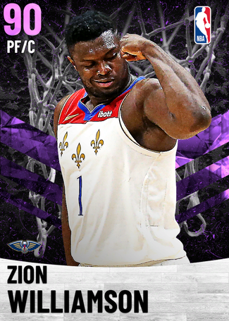 Zion Williamson amethyst card