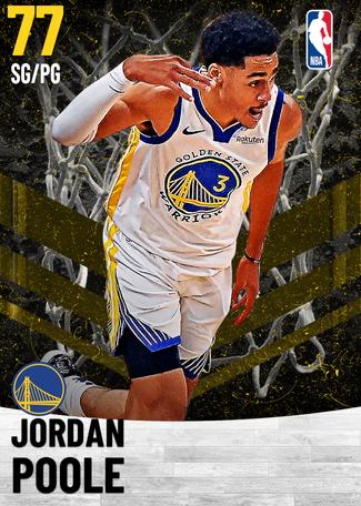 Jordan Poole gold card