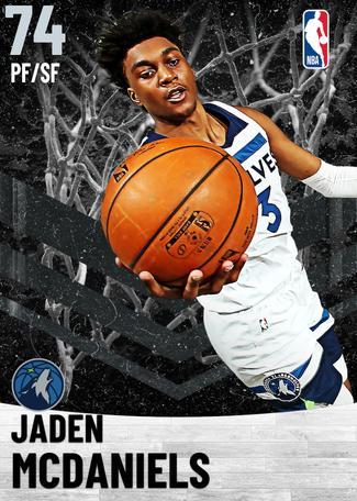 Jaden McDaniels silver card