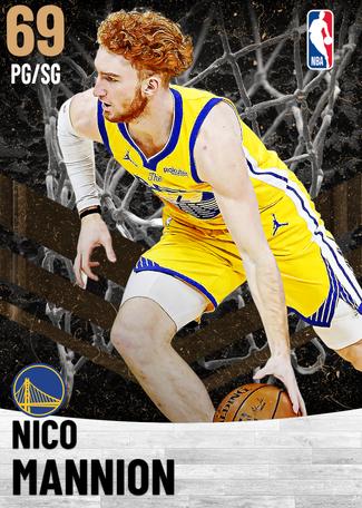 Nico Mannion bronze card