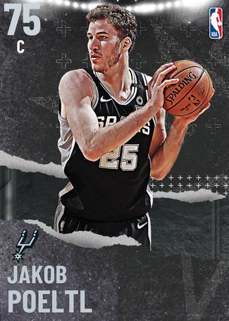 Jakob Poeltl silver card
