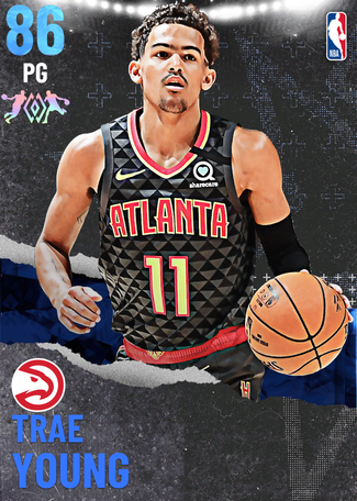 Trae Young sapphire card