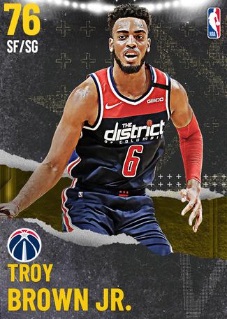 Troy Brown Jr. gold card