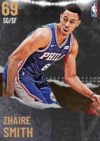Zhaire Smith bronze card