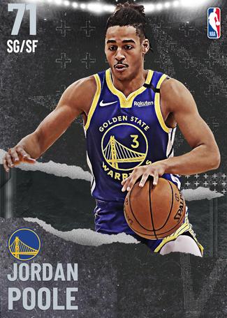 Jordan Poole silver card