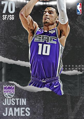 Justin James silver card