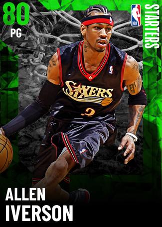 '04 Allen Iverson emerald card