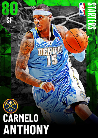 '05 Carmelo Anthony emerald card