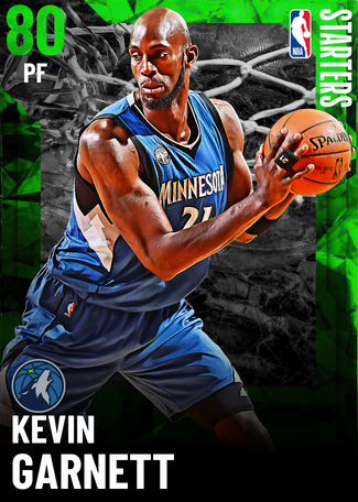 '04 Kevin Garnett emerald card