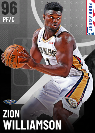 Zion Williamson onyx card