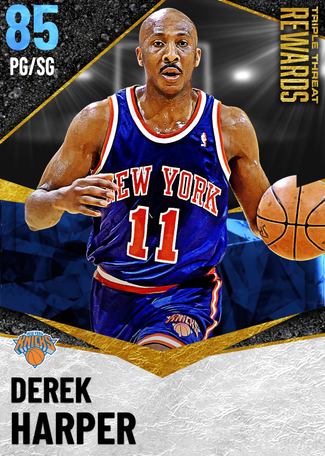 '99 Derek Harper sapphire card