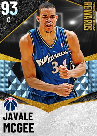'18 JaVale McGee diamond card