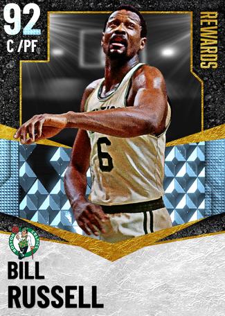 '65 Bill Russell diamond card