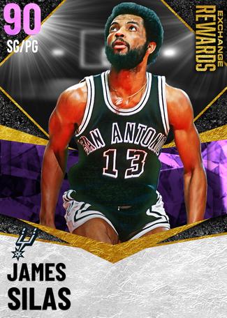 '82 James Silas amethyst card