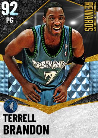 '02 Terrell Brandon diamond card