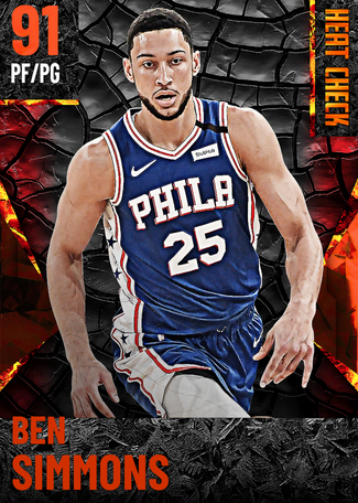 Ben Simmons fire card