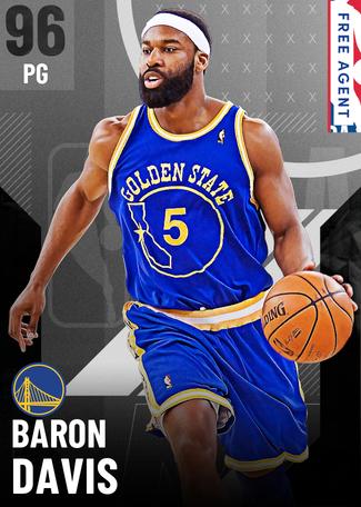 '12 Baron Davis onyx card