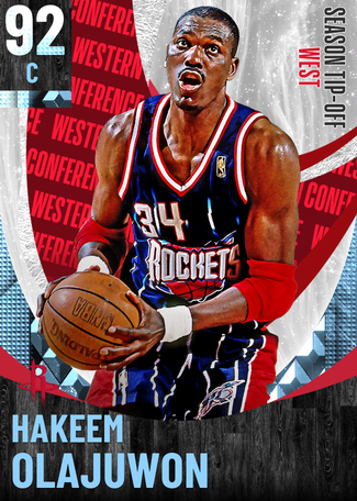 '94 Hakeem Olajuwon diamond card