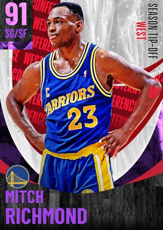 '02 Mitch Richmond amethyst card