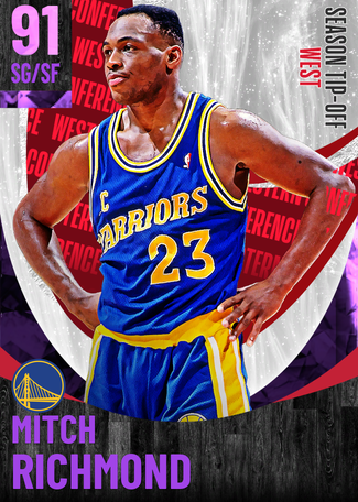 '02 Mitch Richmond amethyst card