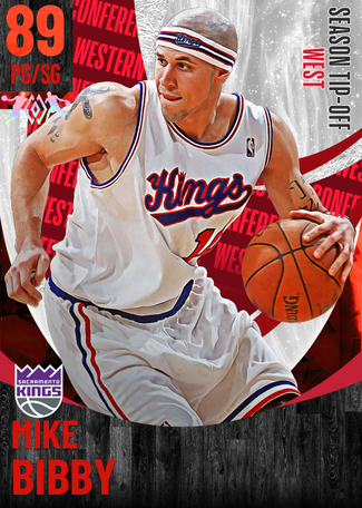 '02 Mike Bibby ruby card