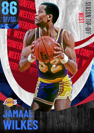 '86 Jamaal Wilkes sapphire card
