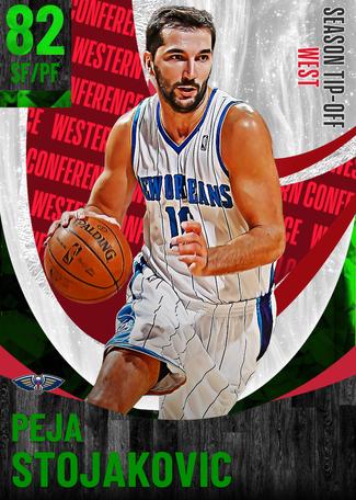 '02 Peja Stojakovic emerald card