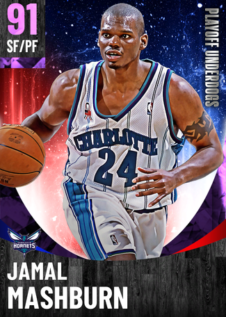 '04 Jamal Mashburn amethyst card
