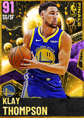 Klay Thompson amethyst card