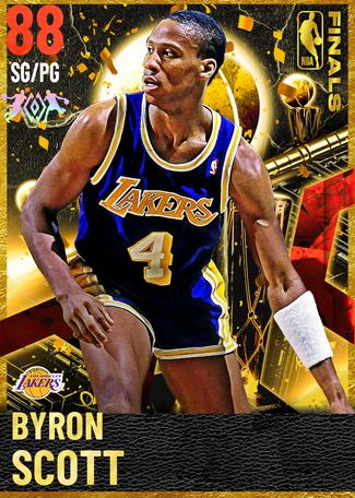 '97 Byron Scott ruby card