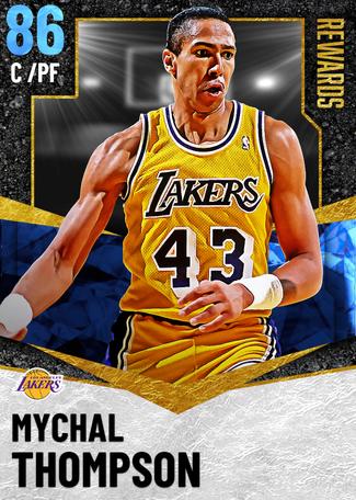'87 Mychal Thompson sapphire card