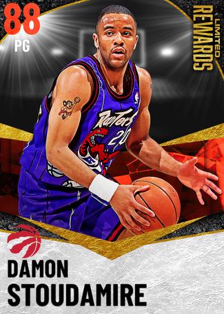'97 Damon Stoudamire ruby card