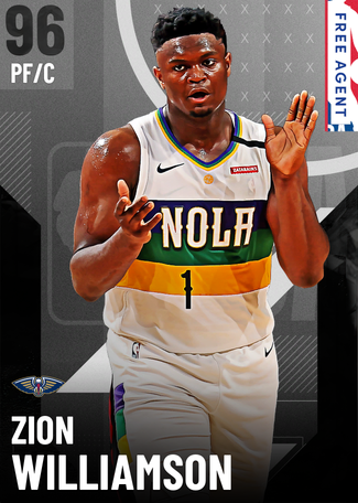 Zion Williamson onyx card