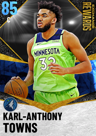Karl-Anthony Towns sapphire card