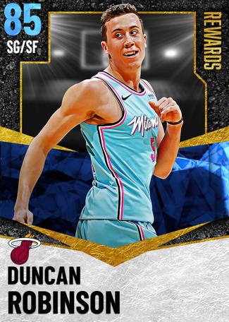 Duncan Robinson sapphire card