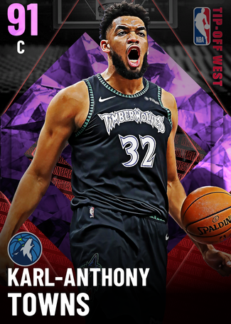 Karl-Anthony Towns amethyst card