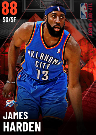 James Harden ruby card