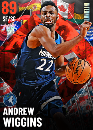 '19 Andrew Wiggins ruby card