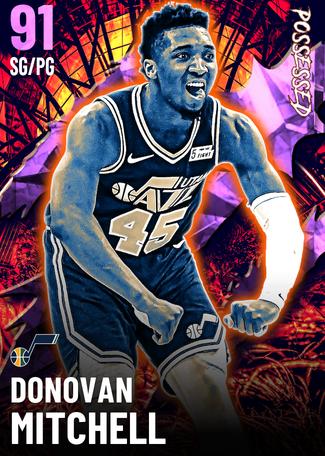 Donovan Mitchell amethyst card