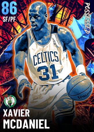 '87 Xavier McDaniel sapphire card