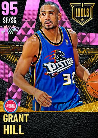 '97 Grant Hill pinkdiamond card