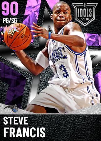 '01 Steve Francis amethyst card