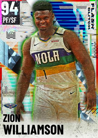 Zion Williamson diamond card